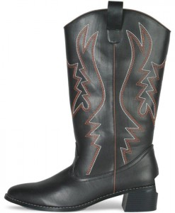Western Cowboy (Black) Male Adult Boots