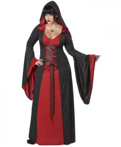 Deluxe Hooded Red Robe Adult Plus Costume