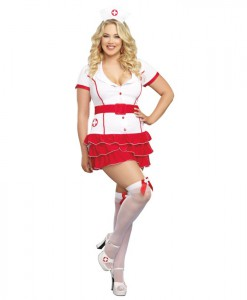 Hospital Hottie Plus Size Nurse Costume