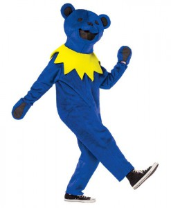 Grateful Dead Blue Dancing Bear Deluxe Adult Costume
