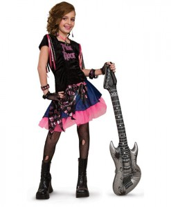Pink Rock Girl Child Costume