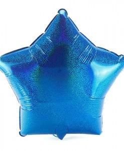 Blue Prismatic Star 18 Foil Balloon