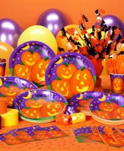 Pumpkin Cheer Halloween Deluxe Party Kit