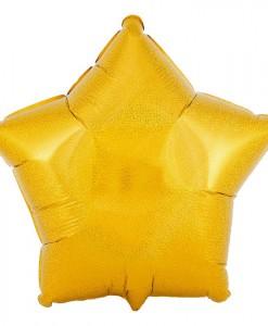 Gold Prismatic Star 18 Foil Balloon